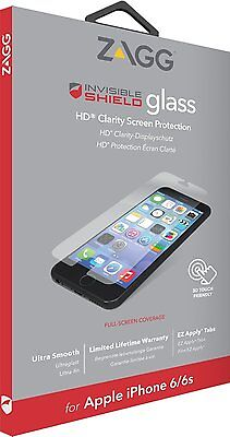 ZAGG InvisibleShield Glass for Apple iPhone 6 / iPhone 6s Screen, Case Friendly