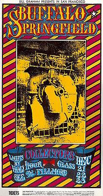 Buffalo Springfield Allman Brothers 1967 BG 98 ORIGINAL/MINT Fillmore Poster