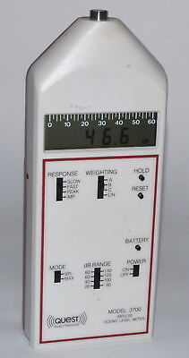 Quest Electronics Model 2700 Impulse Sound Level Meter Used Power-on Tested