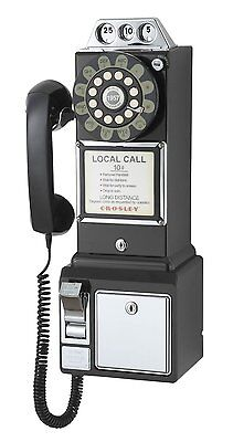 Retro 1950's Classic Pay Phone Wall Mounted Corded Fun Memorabilia Telephone 1950's Classic Pay Phone