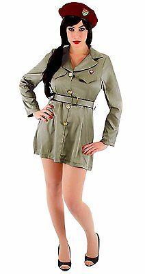 THE DICTATOR WOMENS VIRGIN GUARD ARMY DRESS HALLOWEEN MILITARY COSTUME, - The Dictator Halloween Costume