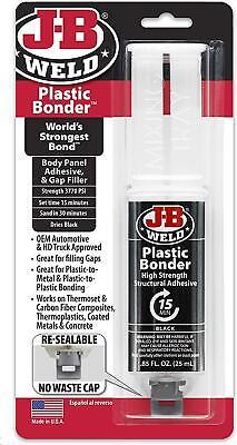 JB Weld Plastic Bonder Industrial Structural Adhesive Syringe Body Panel Glue