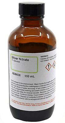 Silver Nitrate Solution 1 100ml  Highest Quality Usa Made Same Day Ship