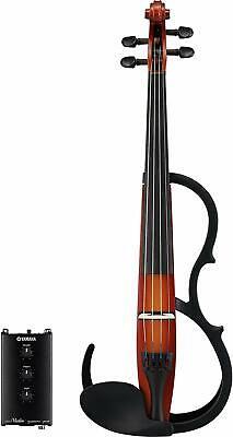 Yamaha Silencioso Eléctrico Violín SV250 Marrón 4-String Nuevo