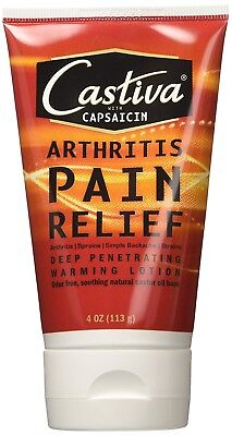 Castiva Arthritis Pain Relief Lotion with Capsaicin, 4 oz
