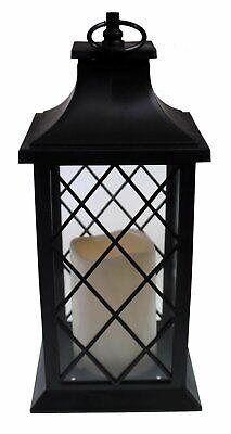 12 inch decorative led lantern w flickering