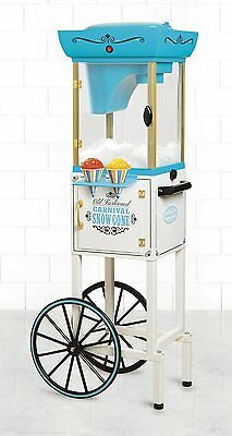 Snow Cone Machine 48 Mobile Vintage Cart Electric Shave Ice Crusher Shaver Fair