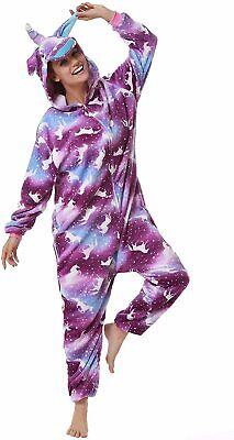 Adult Bodysuit Unicorn Cosplay Costume Halloween Bodysuit, Purple, Size Medium