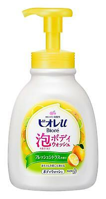 Kao BIORE U Awa Foam Body Wash 600ml - Fresh Citrus Scented