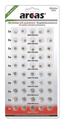 Knopfzellen Set 50 Stück für kleine Kinder Spielzeuge LED Lampen Armbanduhr A84 ()