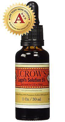 J Crows  Lugols Solution Of Iodine 5  1 Oz Bottle