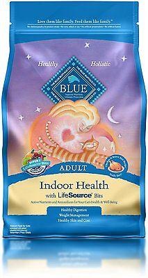 Blue Buffalo Adult Cat Indoor Formula Dry Cat Food  7 Lb Bag  New  Free Shipping