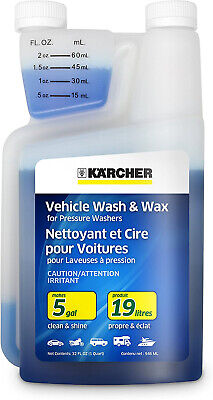 Karcher Car Wash and Wax Soap for Pressure Washers, 1 Quart