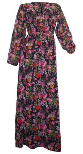 AMY VERMONT Maxikleid Gr 38 bis Gr 48 schwarz bunt Blumen Kleid Chiffon