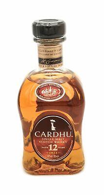 Cardhu 12 Jahre Single Malt Scotch Whisky 1x 0,7 l Alkohol 40% vol.