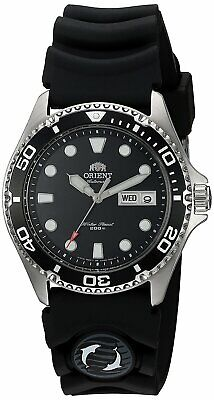 Orient FAA02007B Ray II Automatic Black Dial Rubber Strap 200m Men's Diver Watch