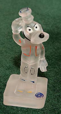 Disney Goofy Vintage Frosted Glass Figure Italy