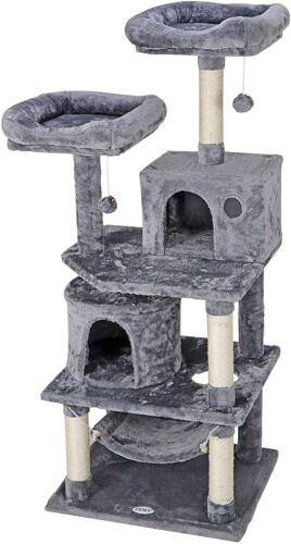57 inch Hammock Style Cat Activity Tree Tower Great For Climbing & Scratching Cat Supplies