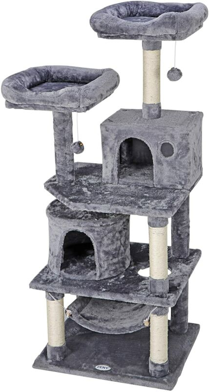 "57"" STURDY Cat Tree Tower Activity Center Large Playing House Condo For Rest"