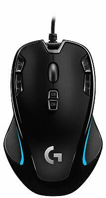 Logitech G300s Optical Ambidextrous Gaming Mouse - 9-Buttons - Black