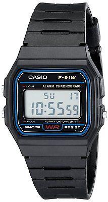 Casio F-91W Stopwatch Alarm Classic Black Watch - Seller refurbished