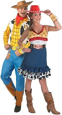 Couples Mens AND Ladies Toy Story Woody Jessie Fancy Dress Costumes - Woody And Jessie Costume