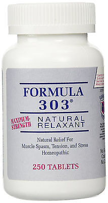 Formula 303   Natural Relief For Muscle Spasm  Stress  And Tension