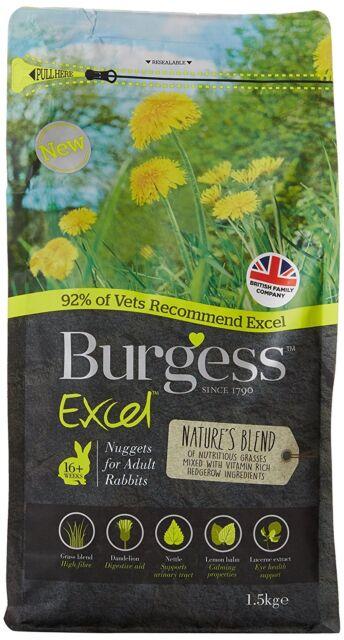 Burgess Excel Natures Blend Nuggets Rabbit Food 1.5kg