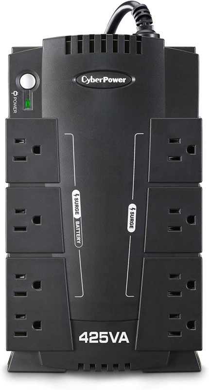 8 Outlet UPS Battery Backup Computer Uninterruptible Power S