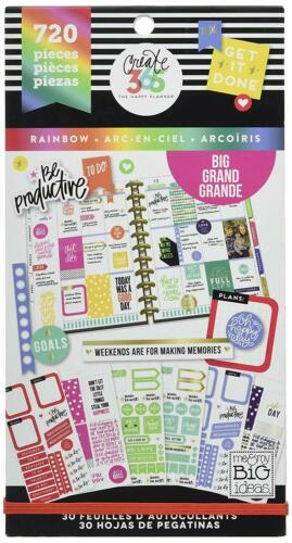 The Happy Planner Create 365 Rainbow Big Sticker Book Pack 720 NEW
