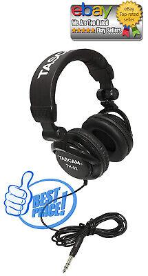Tascam TH-02 Closed Back Studio Headphones, Black *BEST DEALS IN