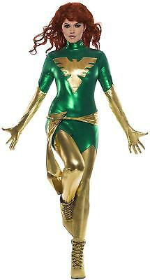 Jean Gray Halloween Costume (Phoenix Marvel Superhero Jean Grey X-Men Fancy Dress Halloween Adult)