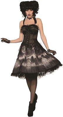 Damen Vintage Friedhof Braut Halloween Horror Kostüm Kleid Outfit ()