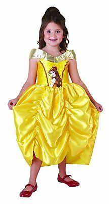 Rubies 3881857 Belle Classic * Big Print Mädchen Kostüm * Disney Princess * Gr.S ()