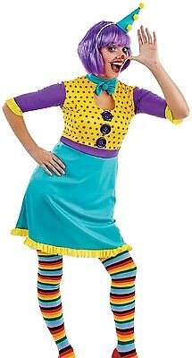 Ladies Cute Clown Circus Halloween Fancy Dress Costume Outfit UK 8-18 Plus Size (Cute Circus Outfits)