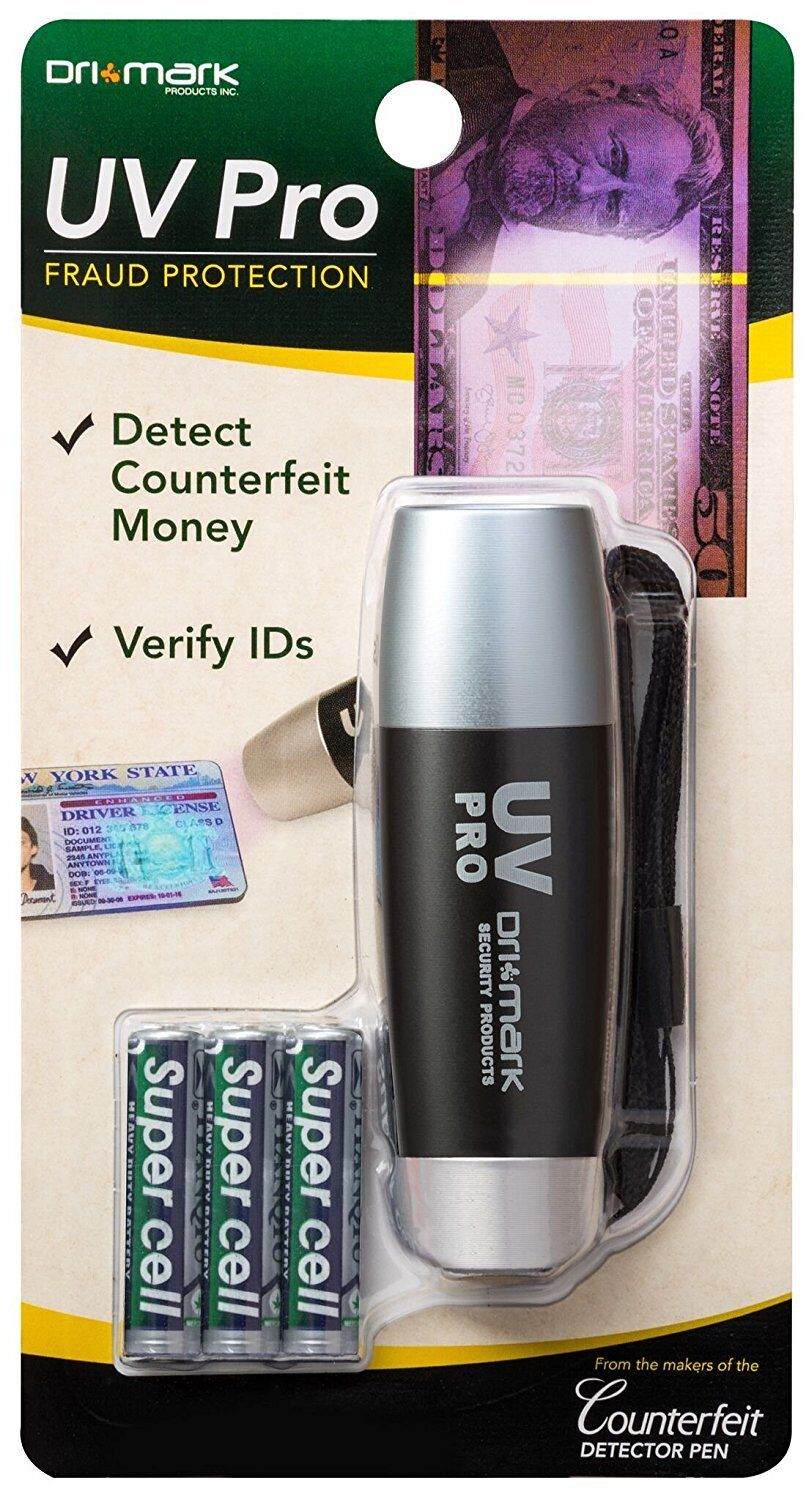 DRI MARK UV Pro Fraud Protection Light – Detect Counterfeit Money & ID – New Business & Industrial