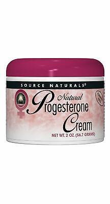 2 Oz Natural Progesterone Cream (Progesterone Cream 2 Ounces - Source Naturals - Fresh Inventory )
