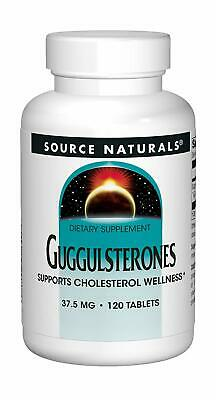 Source naturals Guggulsterones 37.5mg 120 Tabletas Colesterol Planta Esteroides