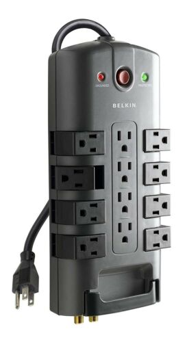 Belkin 12-Outlet Pivot-Plug Power Strip Surge Protector with 8-Foot Power Cord