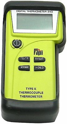 Tpi 343c3 Dual Input K-type Thermocouple Thermometer With Field Calibration