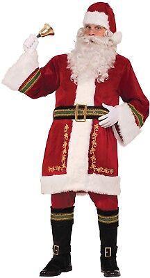 Herren Klassisch Crimson Santa Weihnachtsmann Kostüm Kleid - Klassische Mann Kostüm