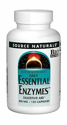 Daily Essential Enzymes 500mg Source Naturals - 120 Caps - Fresh Inventory (Essential Enzymes 120 Caps)