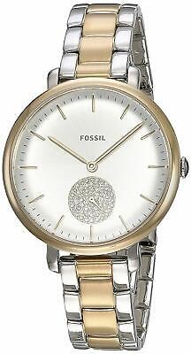 Fossil ES4439 Women's Jacqueline Silver Dial Two-Tone Steel 36mm Watch