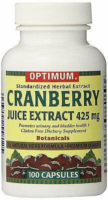 (Optimum Tablets, Cranberry Juice Extract, 425 Mg, 100 Count)