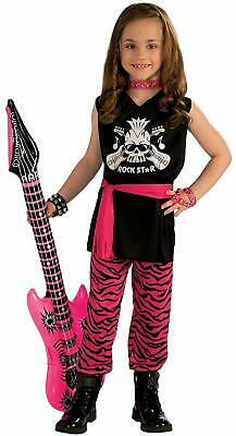 Rock Star Girl 80's Retro Hair Band Pop Fancy Dress Up Halloween Child Costume](80's Band Halloween Costume)