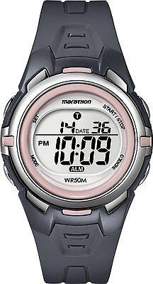 Timex T5K360, Women's Marathon Resin Watch, Indiglo, Alarm, Stopwatch