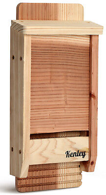 Kenley Bat House Outdoor Box Shelter with Single Chamber - Cedar Wood