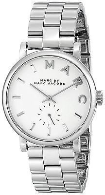 Marc by Marc Jacobs Women's Baker MBM3242 Silver Stainless-Steel Quartz Watch