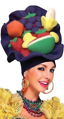 Damen Herren Carmen Miranda Frucht Pantomime Dame Kostüm Kleid Outfit - Carmen Miranda Kostüm