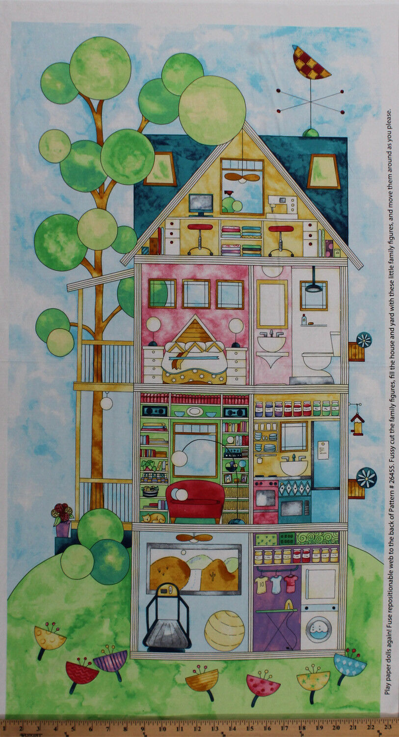 28 x 44 panel doll house sewing